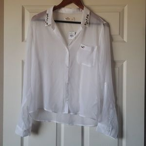 Hollister Sheer Button-up